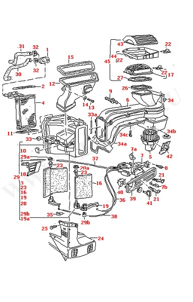 VW Golf 98-06 II/Jetta 84-92/Vento Air/Heater Controls