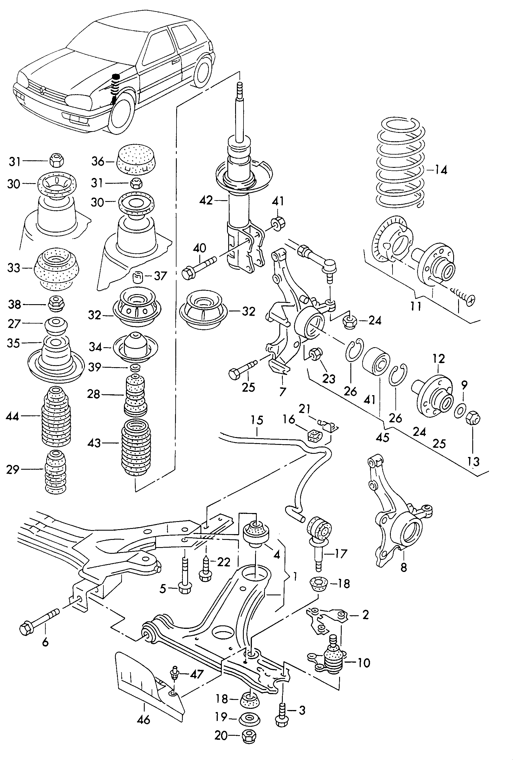 Vw Jetta Front Suspension Diagram, Vw, Free Engine Image