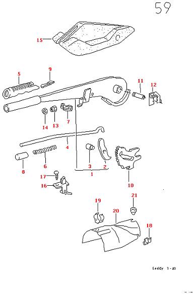 VW GOLF 75-88 CABRIOLET 79-93 JETTA 79-88 HAND BRAKE