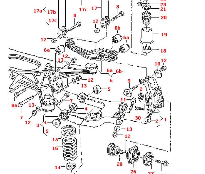 AUDI A8 1994-2003 REAR AXEL SPRING LOWER SUPPORT RUBBER