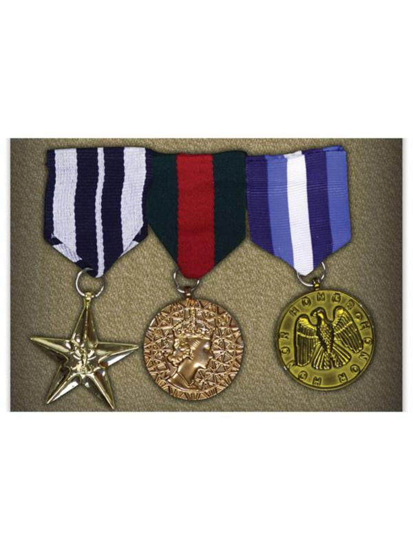 Military 3 Gold Medals Army Soldier Armed Forces Fancy