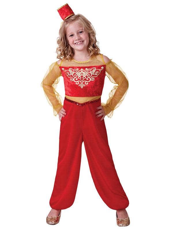 Girls Arabian Princess Aladdin Fancy Dress Costume Outfit