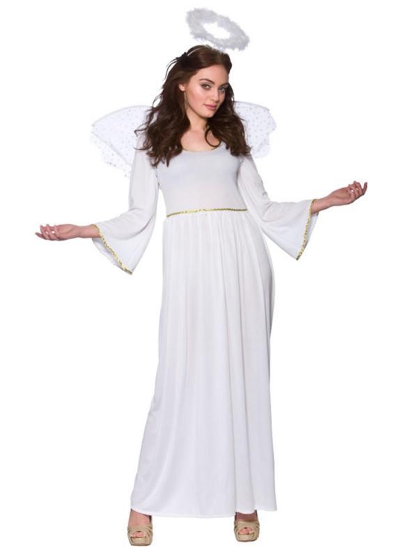 Adult Sexy Christmas Angel Ladies Fancy Dress Costume Xmas