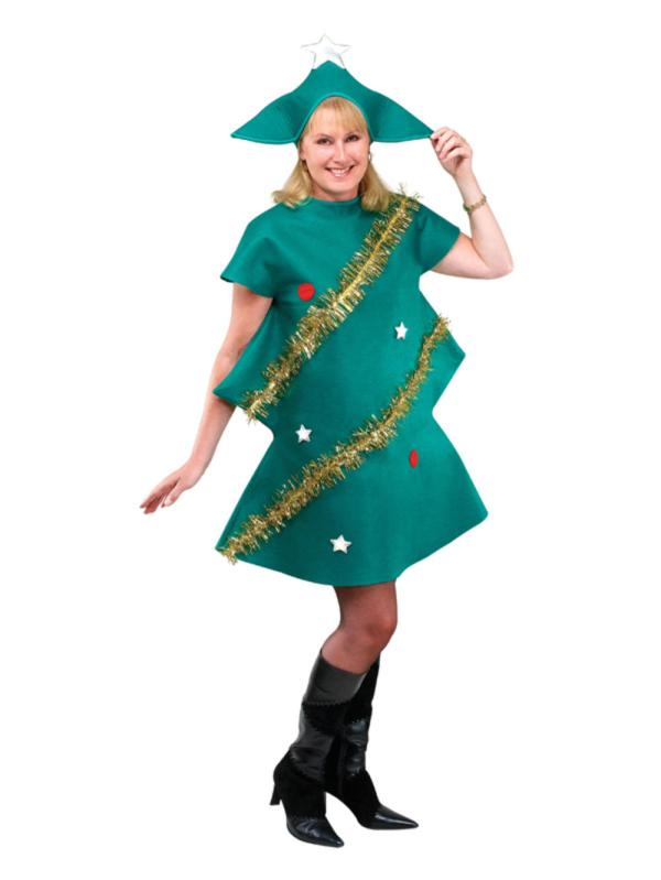 Adult Christmas Tree Costume Ladies Mens Novelty Xmas