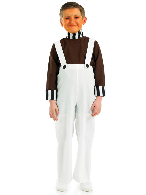 Factory Worker Fancy Dress Costume Umpa Lumpa Willy Wonka