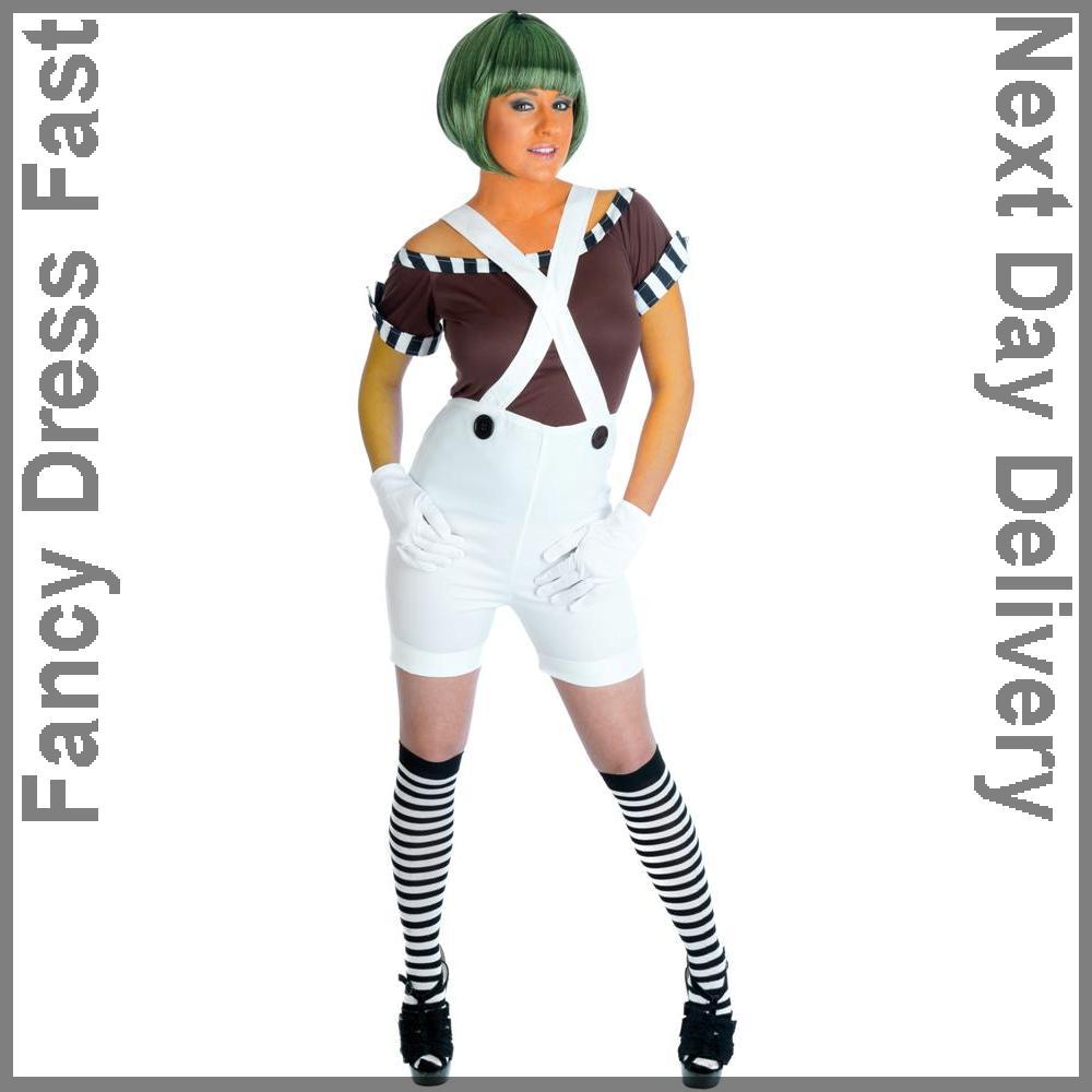 Factory Worker Oompa Loompa Ladies Umpa Lumpa Fancy Dress