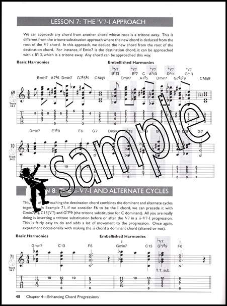 Mastering Jazz Guitar Chord/Melody Complete Method TAB