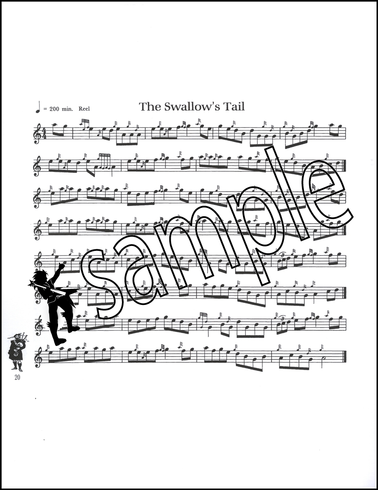 Traditional Irish Music for Bagpipe Sheet Music Book Dave