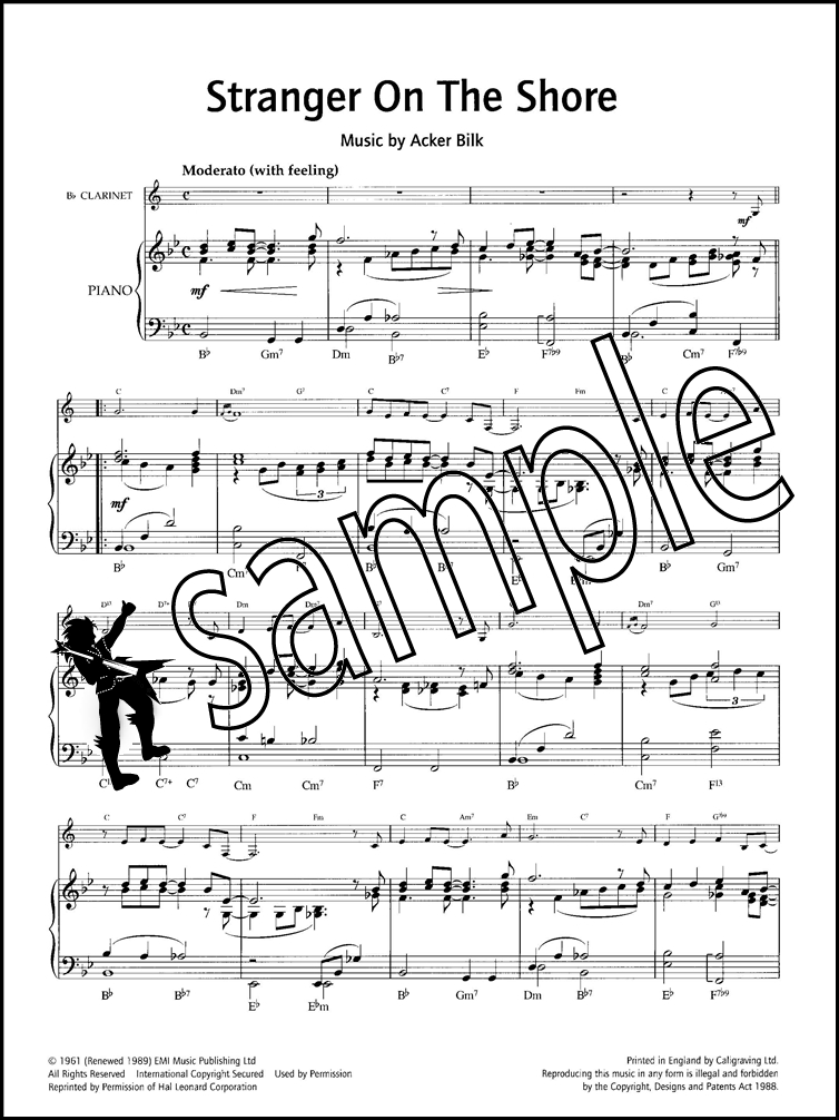 Stranger On The Shore Clarinet & Piano Sheet Music by