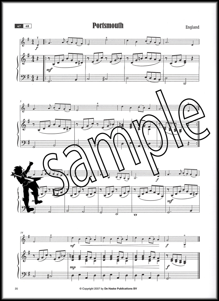 Famous Tunes for Violin Sheet Music Book with CD Position
