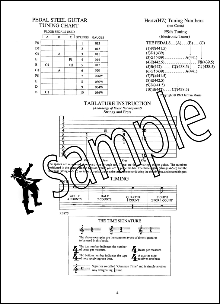 Easiest Country Pedal Steel Guitar TAB Music Book Learn