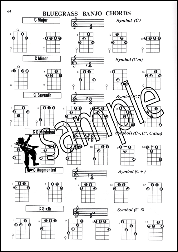 Banjo Chord Encyclopedia for 5-String or Plectrum C&G