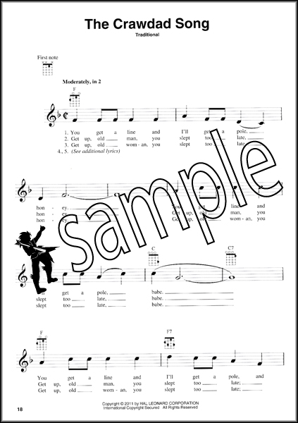 Folksongs for Ukulele 60 Songs Chord Melody Sheet Music