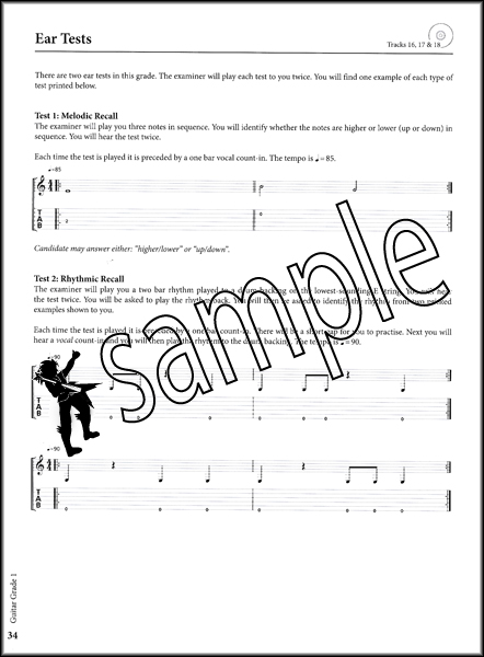 Rockschool Guitar Grade 1 2012-2018 TAB Book & CD Songs