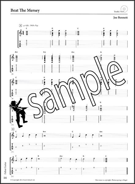 Rockschool Guitar Debut Grade 2012-2018 TAB Book & CD