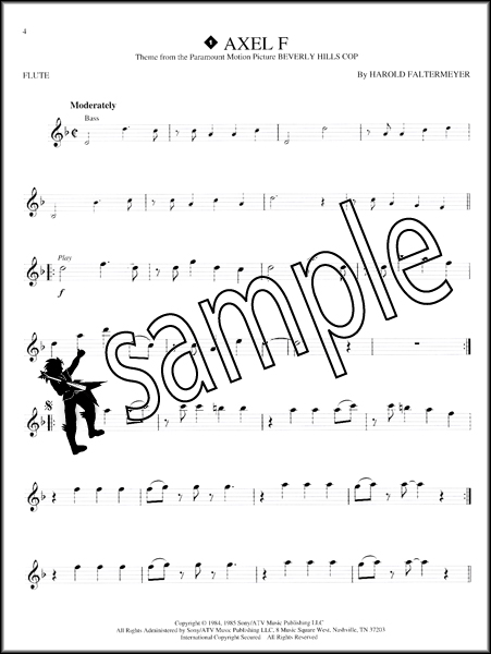 Great Themes Flute Instrumental Playalong Sheet Music Book
