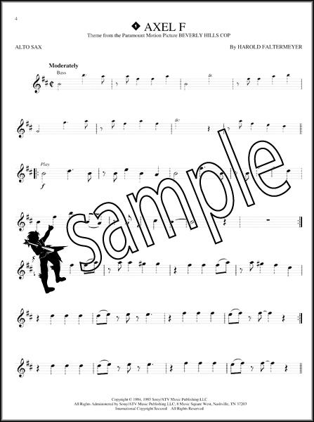 Great Themes Alto Sax Instrumental Playalong Sheet Music