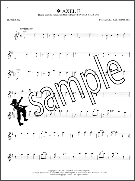 Great Themes Tenor Sax Instrumental Playalong Sheet Music