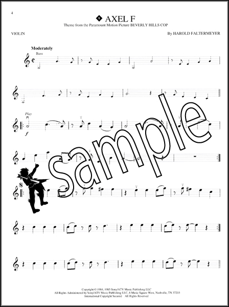 Great Themes Violin Instrumental Playalong Sheet Music
