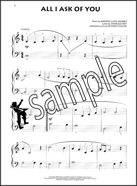 The Phantom of the Opera Beginning Piano Solo Very Easy