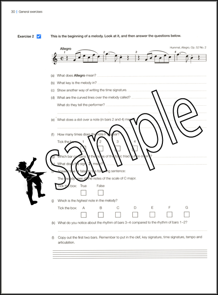Music Theory in Practice ABRSM Grade 1 Exam Syllabus