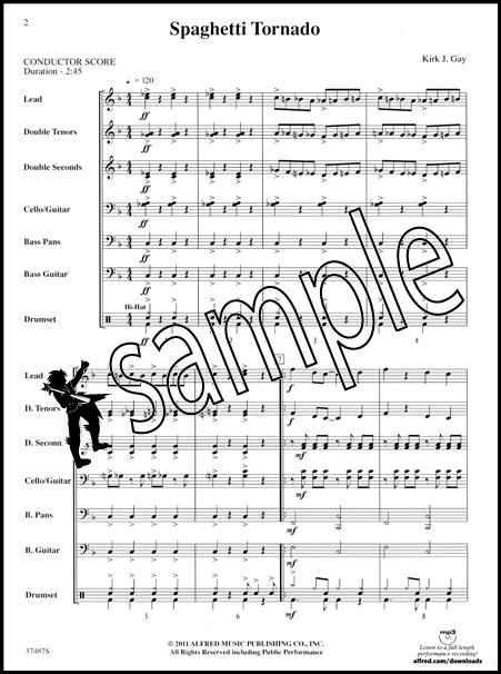 Jamaica Farewell Steel Drum Ensemble Sheet Music Score