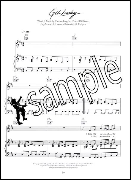 Daft Punk Random Access Memories Piano Vocal Guitar Sheet