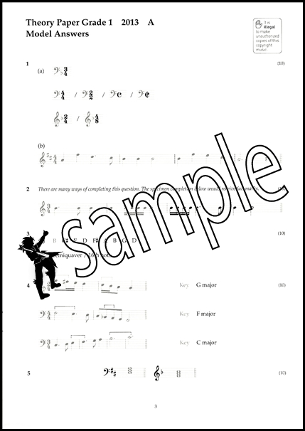 Music Theory Past Papers 2013 Model Answers ABRSM Grade 1