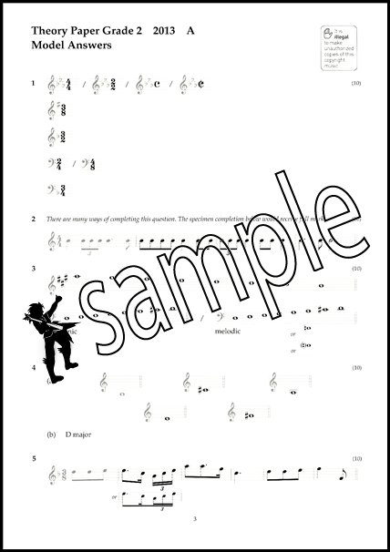 Music Theory Past Papers 2013 Model Answers ABRSM Grade 2