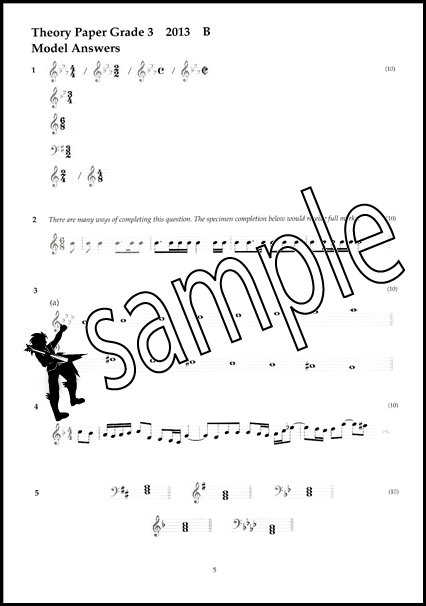 Music Theory Past Papers 2013 Model Answers ABRSM Grade 3