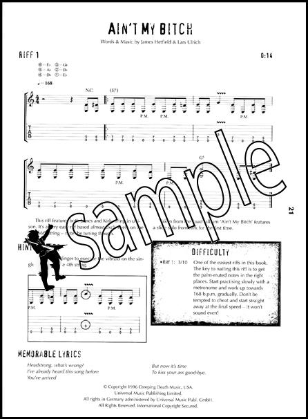 Riffology of Metallica Guitar TAB Edition Learn to Play