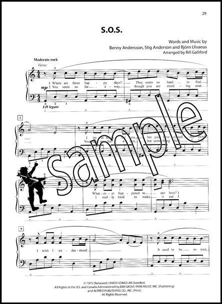 Mamma Mia Broadway's Best Easy Piano Sheet Music Book ABBA
