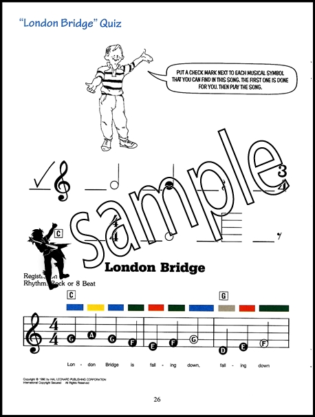 Kid's Keyboard Course Book 1 Learn How to Play Method for