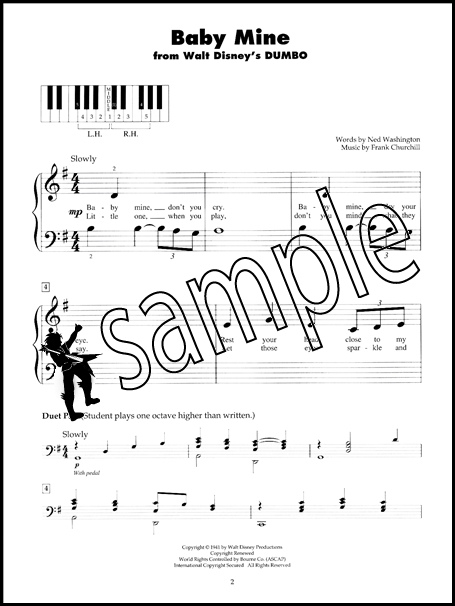 Disney Movie Classics 5 Finger Piano Very Easy Sheet Music