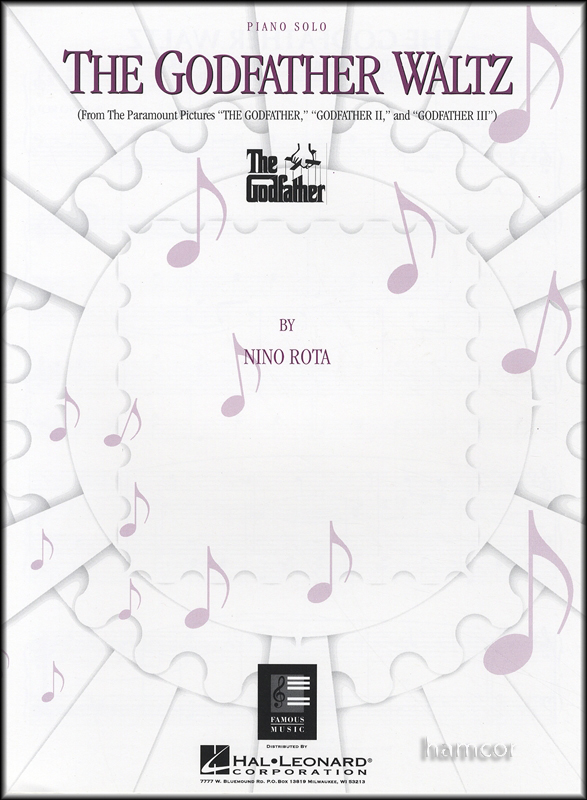 THE Godfather Waltz Piano Solo Sheet Music From THE Movie