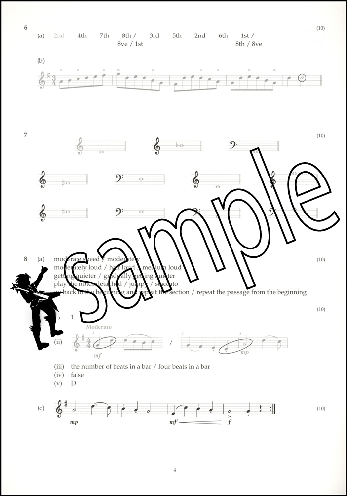 Music Theory Past Papers 2014 Model Answers ABRSM Grade 1