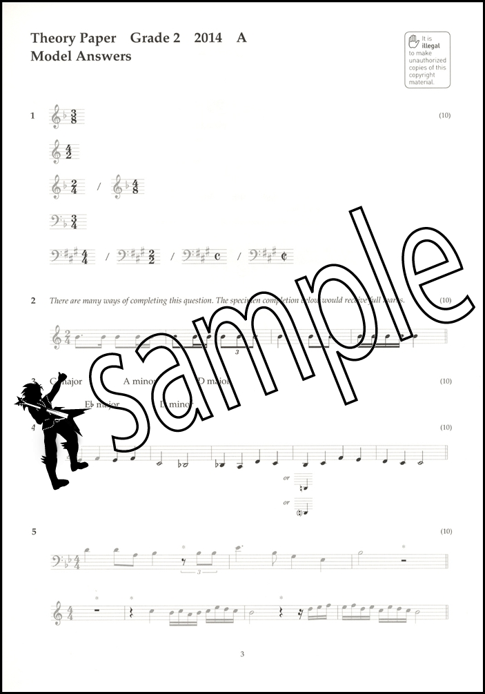 Music Theory Past Papers 2014 Model Answers ABRSM Grade 2