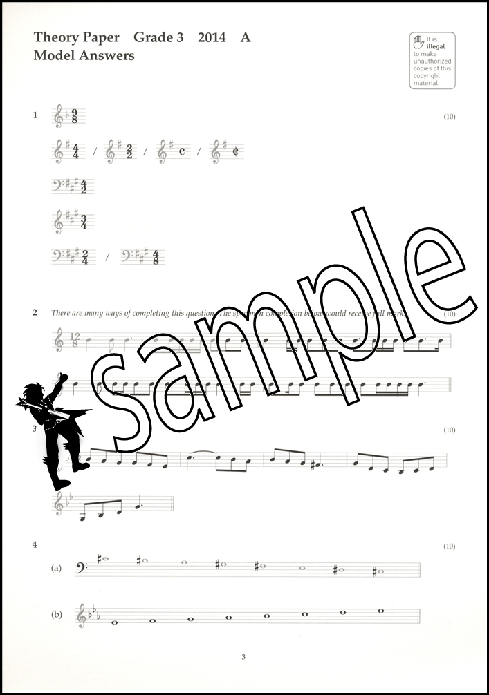 Music Theory Past Papers 2014 Model Answers ABRSM Grade 3