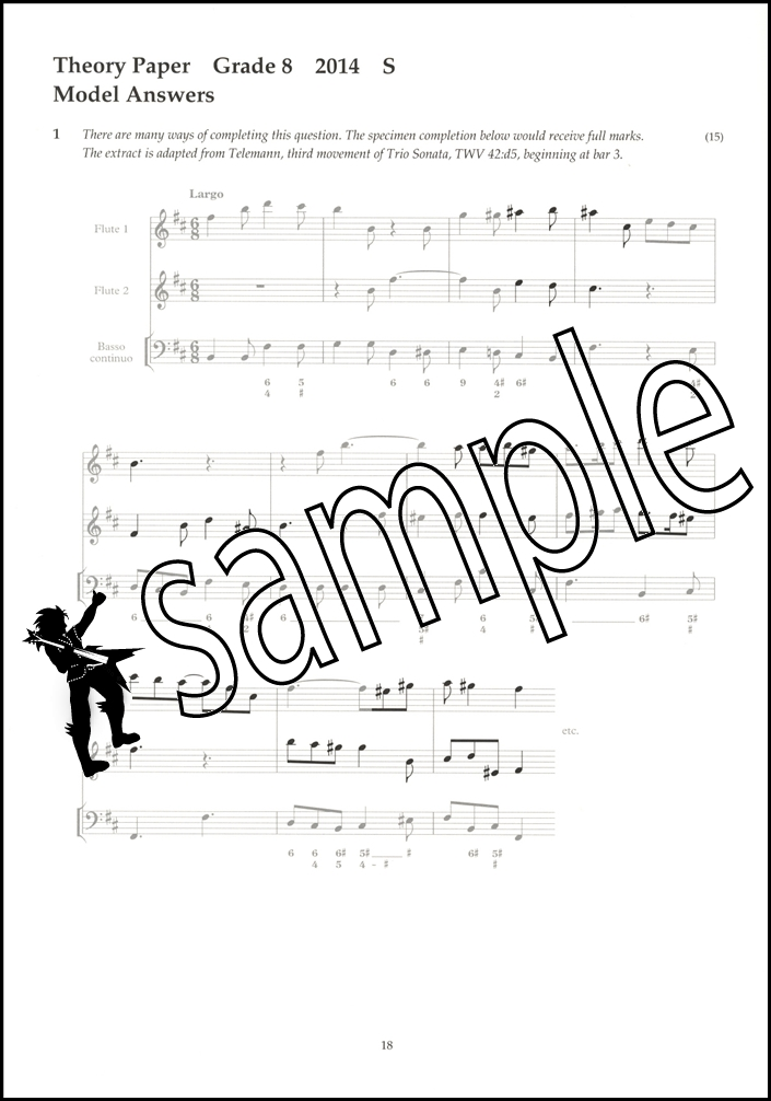 Music Theory Past Papers 2014 Model Answers ABRSM Grade 8