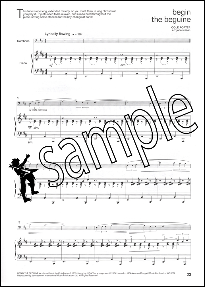 Lets Face the Music Trombone/Euphonium Treble Clef Sheet