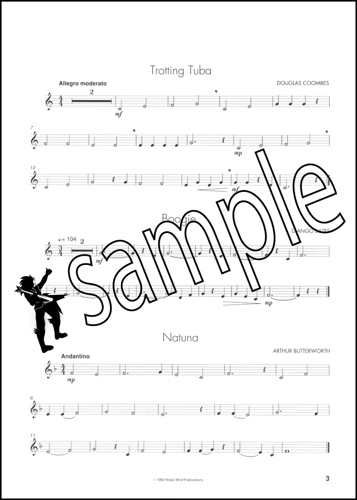Keynotes Album for Eb Bass/Tuba Treble Clef & Piano Sheet
