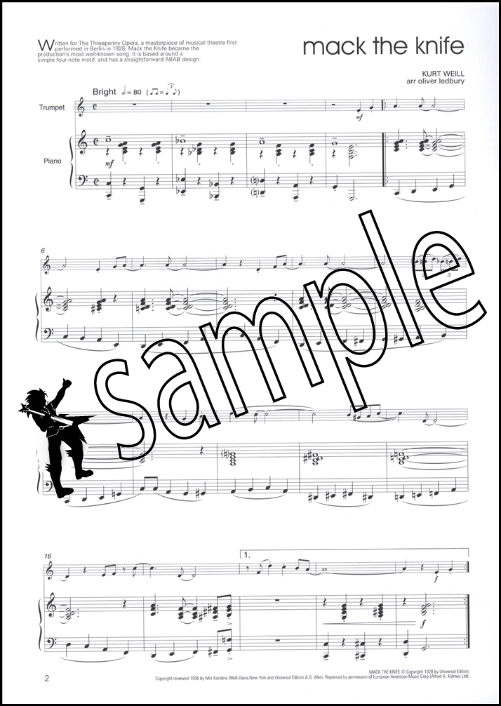 Big Chillers for Trumpet with Piano Accompaniment Sheet