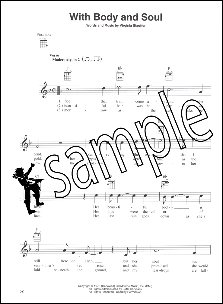 Bluegrass Songs For Ukulele Chord & Melody Songbook 25