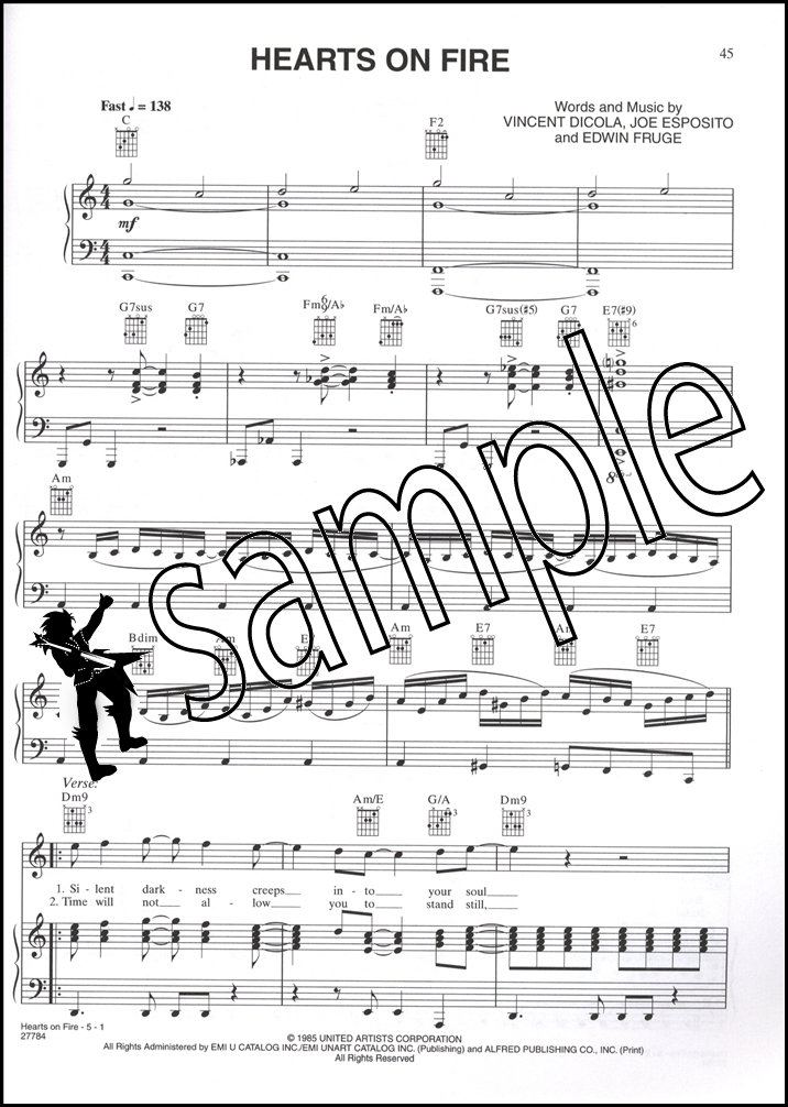 Rocky Balboa The Best of Rocky Piano Vocal Chords Sheet