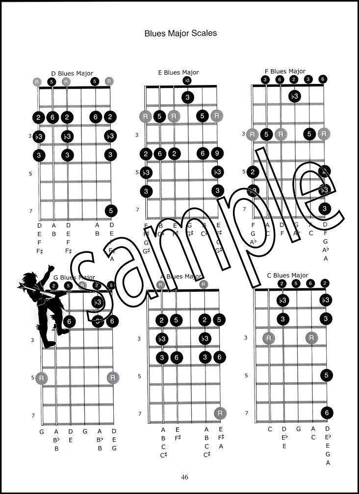 DADGAD Blues Easy to Intermediate Guitar TAB Music Book