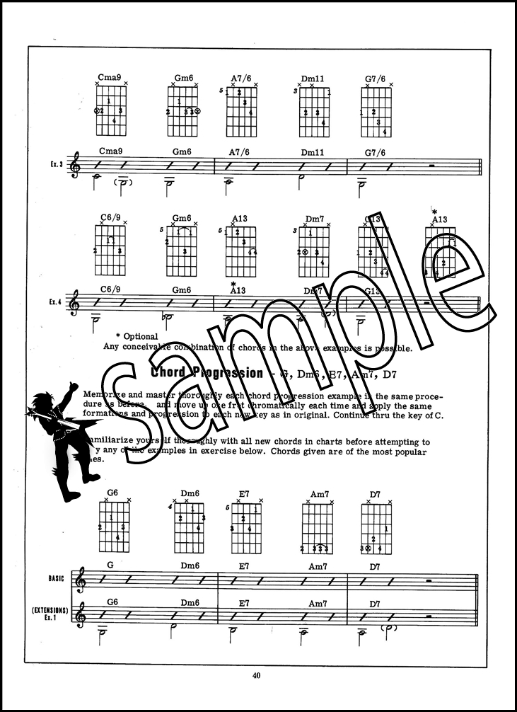 Deluxe Encyclopedia of Guitar Chord Progressions Sheet