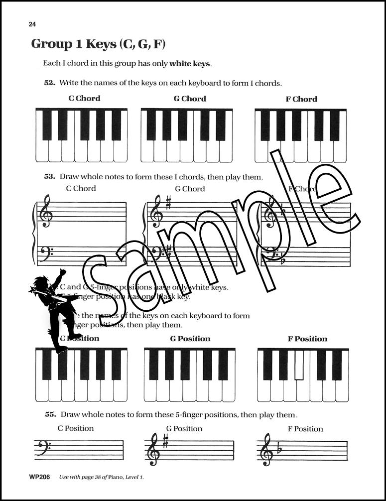 Bastien Piano Basics Theory Level 1 Sheet Music Book by