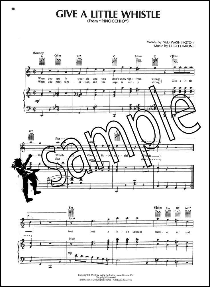 The Disney Collection Piano Vocal Guitar Sheet Music Book
