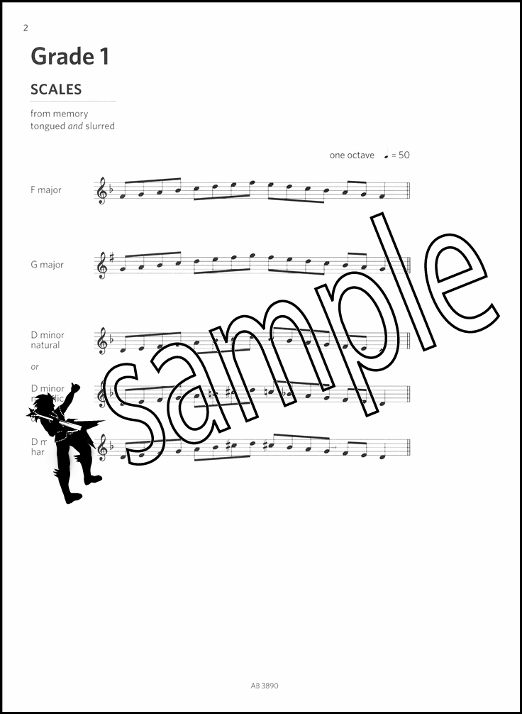 Oboe Scales & Arpeggios from 2018 ABRSM Grades 1-5 Sheet