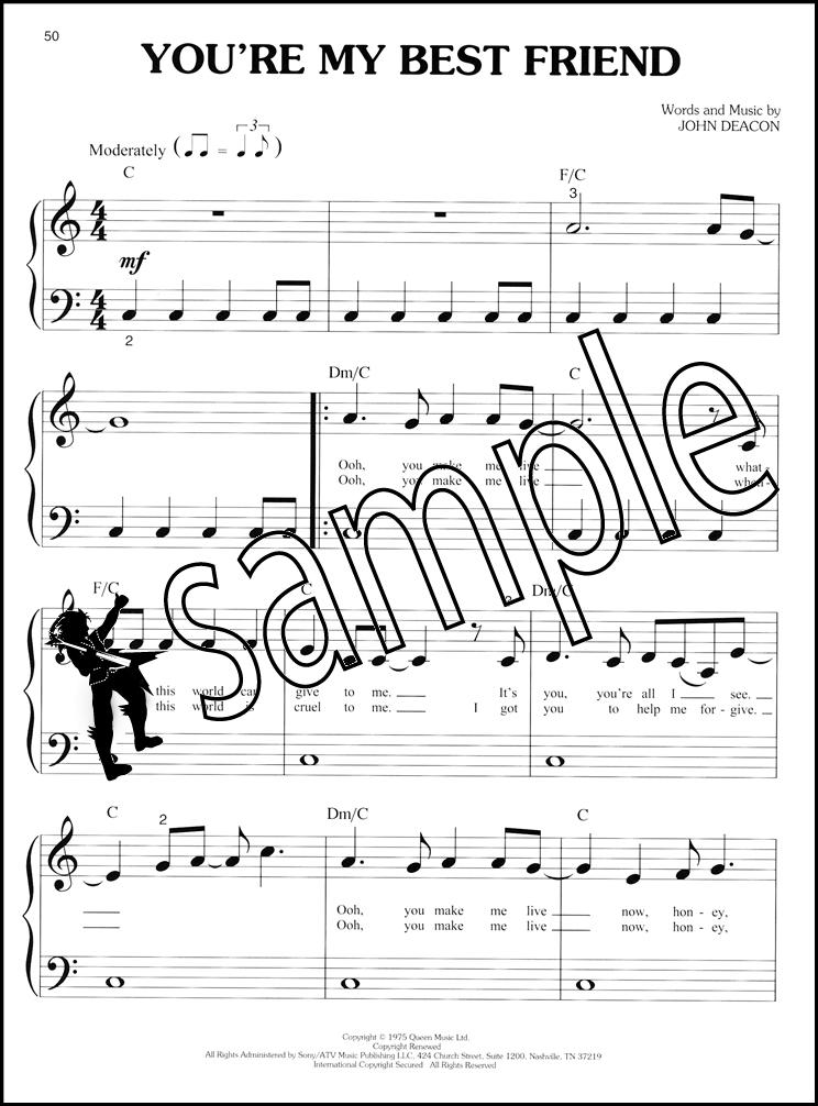 Queen for Big Note Piano Sheet Music Book Bohemian